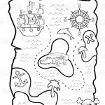 Personalized Printable Pirate Treasure Map Birthday Party Favor   Children's Treasure Map Printable