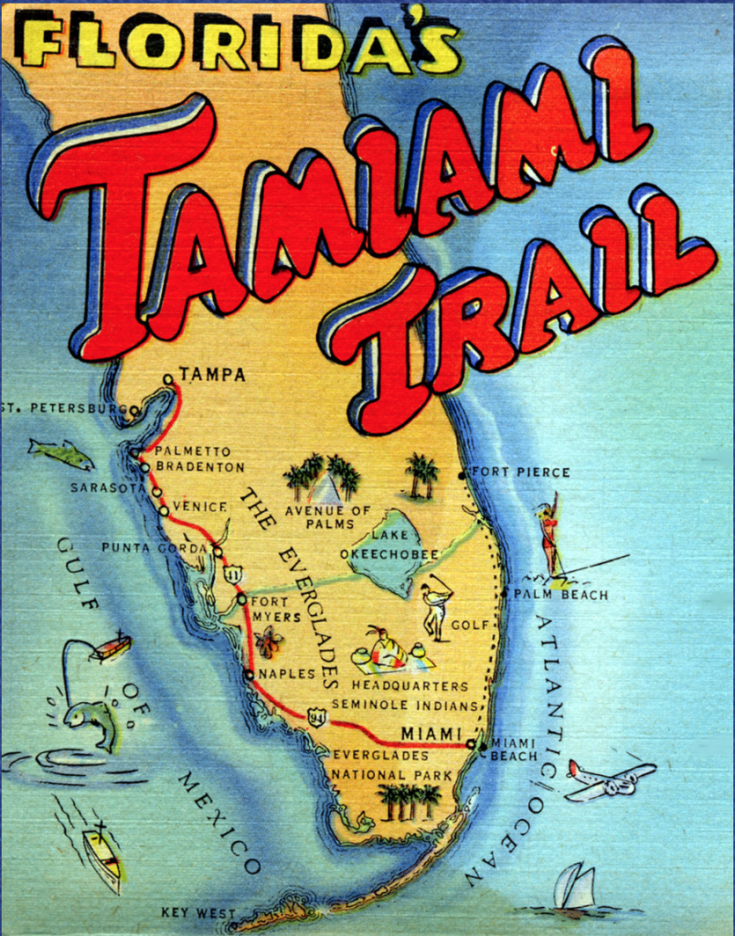 Perspective On 2018 Elections, The Tamiami Trail Turns 90 & New - Tamiami Trail Florida Map
