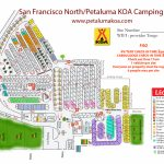 Petaluma, California Campground | San Francisco North / Petaluma Koa   California Rv Campgrounds Map