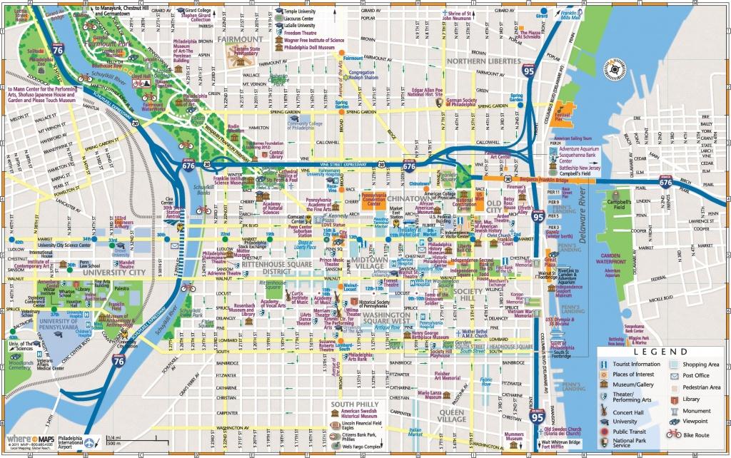 Philadelphia Downtown Map - Philadelphia Tourist Map Printable