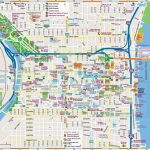 Philadelphia Downtown Map   Printable Map Of Downtown Chicago