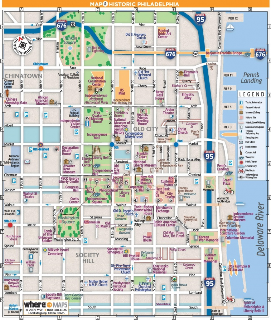 Philadelphia Old City Map - Philadelphia City Map Printable