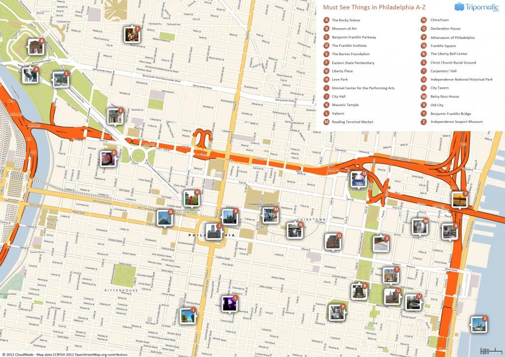 Philadelphia Printable Tourist Map In 2019 | Free Tourist Maps - Map Of Old City Philadelphia Printable