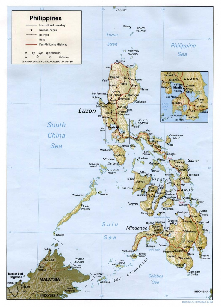 Philippines Maps - Perry-Castañeda Map Collection - Ut Library Online - Printable Map Of The Philippines