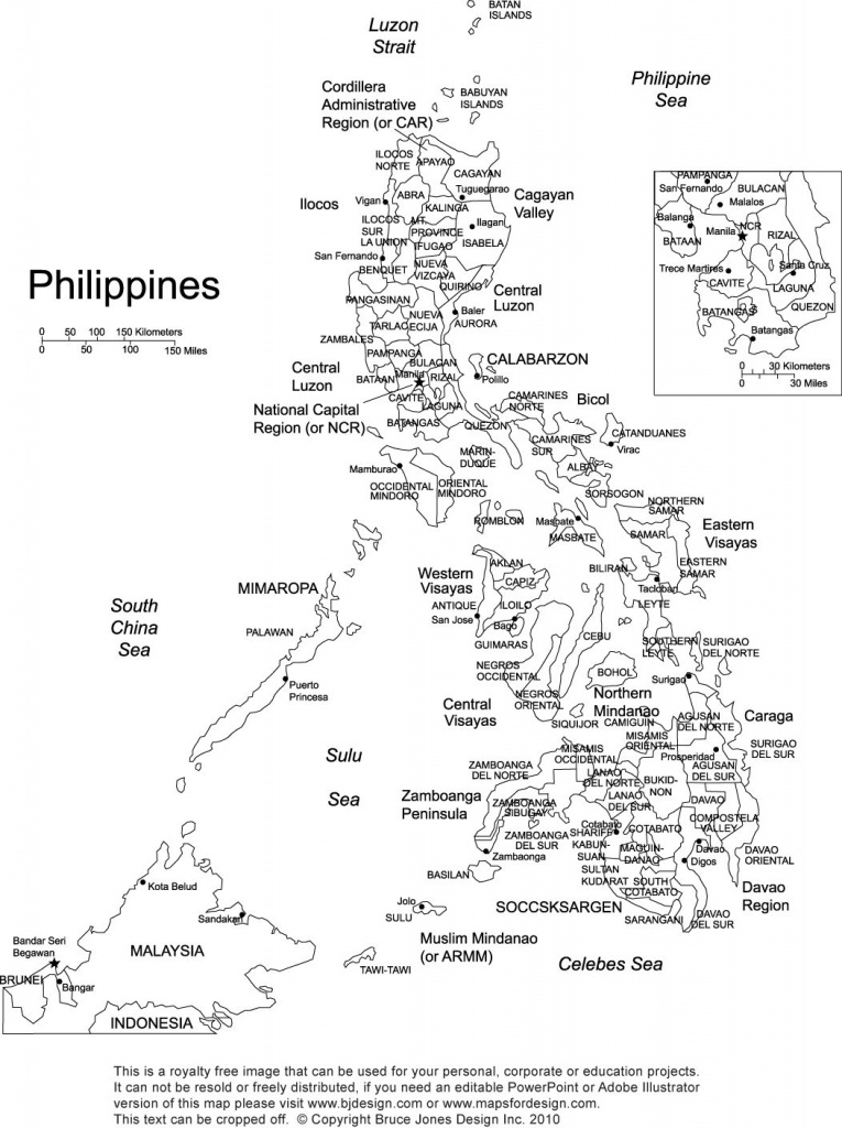 Philippines Printable Blank Map, Royalty Free, Manila   Gift Ideas - Printable Map Of The Philippines