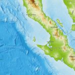 Physical Map Of Baja California   Baja California Topographic Maps