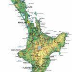 Physical Map Of New Zealand, North Island   New Zealand South Island Map Printable