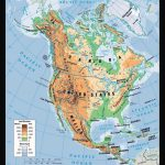 Physical Map Of North America. North America Physical Map | Vidiani   Printable Physical Map Of North America