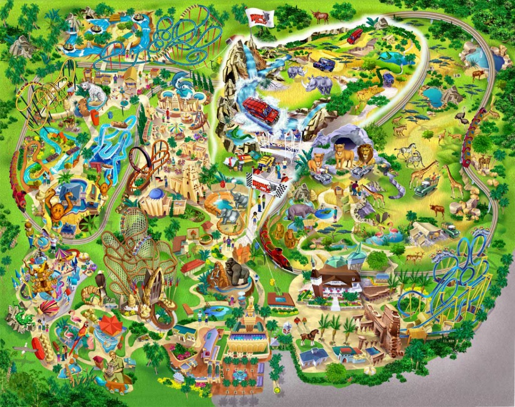 Pinapple-A-Day Natural Health Center On Favorite Vacation Spots - Busch Gardens Florida Map