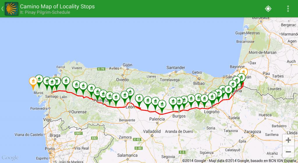 Pinay Pilgrim: Guides, Books And Apps For The Camino De Santiago - Printable Map Of Camino De Santiago