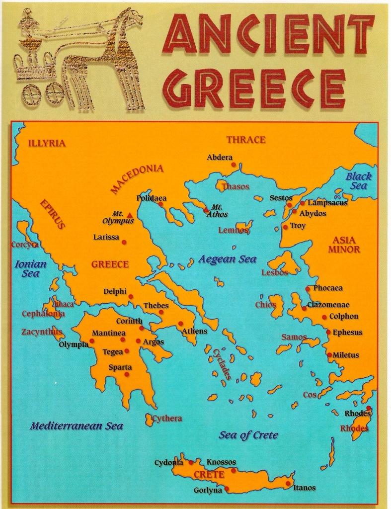Pind'anna Entrekin On Greek | Ancient Greece, Ancient Greece For - Map Of Ancient Greece Printable