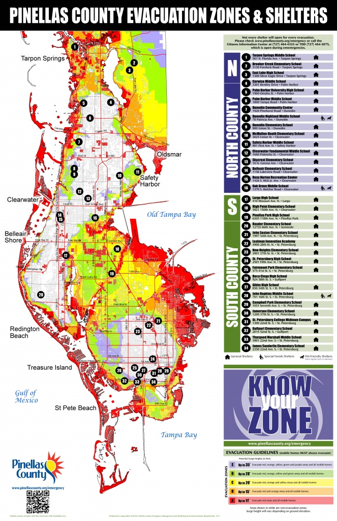 Pinellas County Evacuation Routes For Hurricane Irma | Tampa Bay - Florida Evacuation Route Map