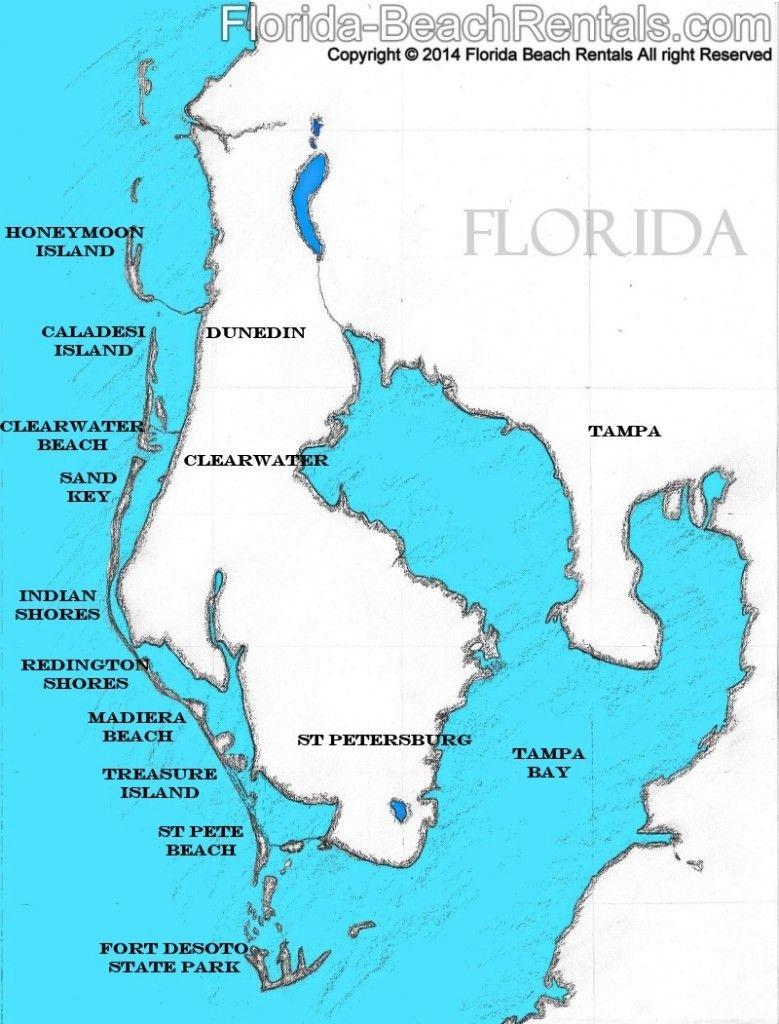 Pinellas County Florida Map, #florida #map #pinellascounty   Talk Of - Indian Beach Florida Map