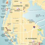 Pinellas County Map Clearwater, St Petersburg, Fl | Florida - Map Of Florida Showing Tampa And Clearwater