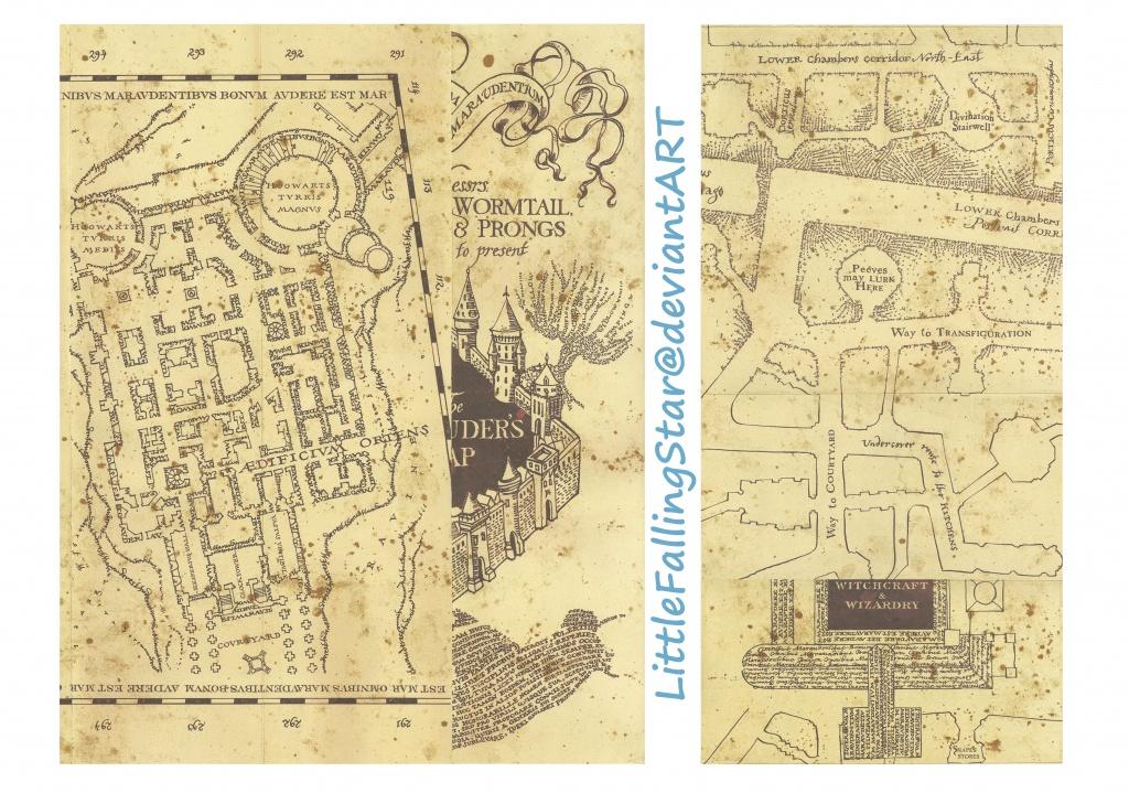 Pinhannah Dove On Harry Potter | Marauders Map, Harry Potter - Marauder's Map Replica Printable