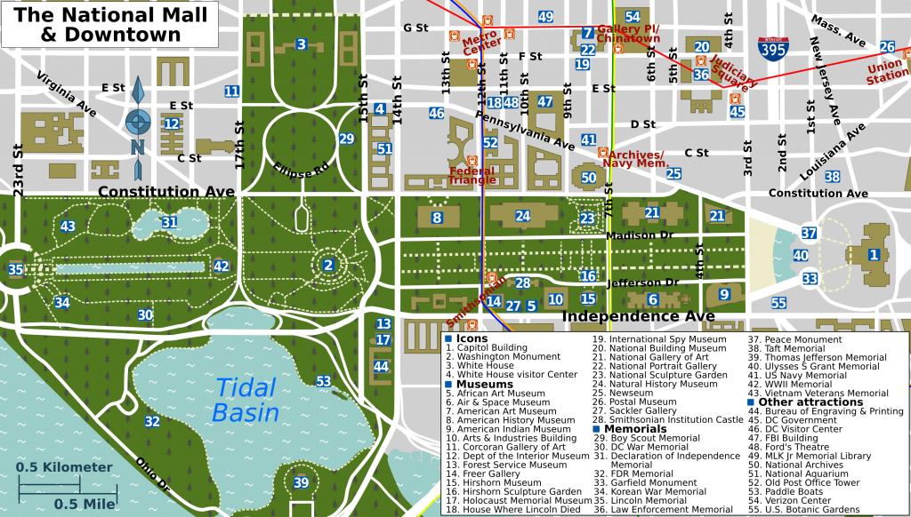 Pinpeggy Sheffold On Decor | Washington Dc Map, Washington Dc - Washington Dc Tourist Map Printable