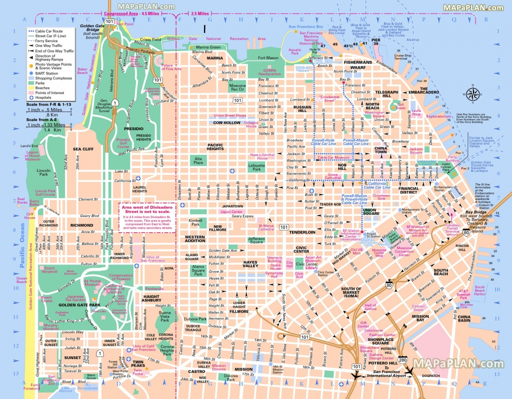 Pinricky Porter On Citythe Bay   San Francisco Map, Usa - Map Of San Francisco Attractions Printable