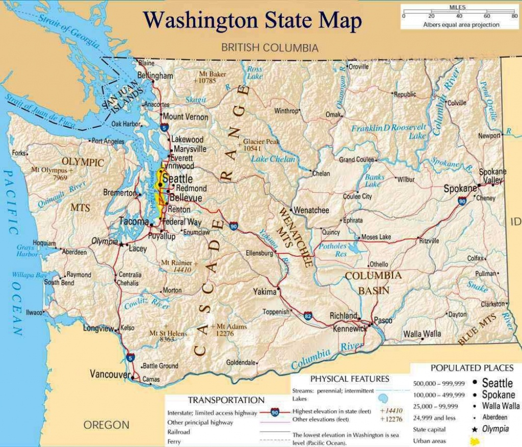 Pinsaitama On Map | Washington Map, Washington State Map - Printable Map Of Washington State