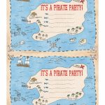 Pintara Hunter On Party Ideas | Pirate Party Invitations, Pirate   Maps For Invitations Free Printable