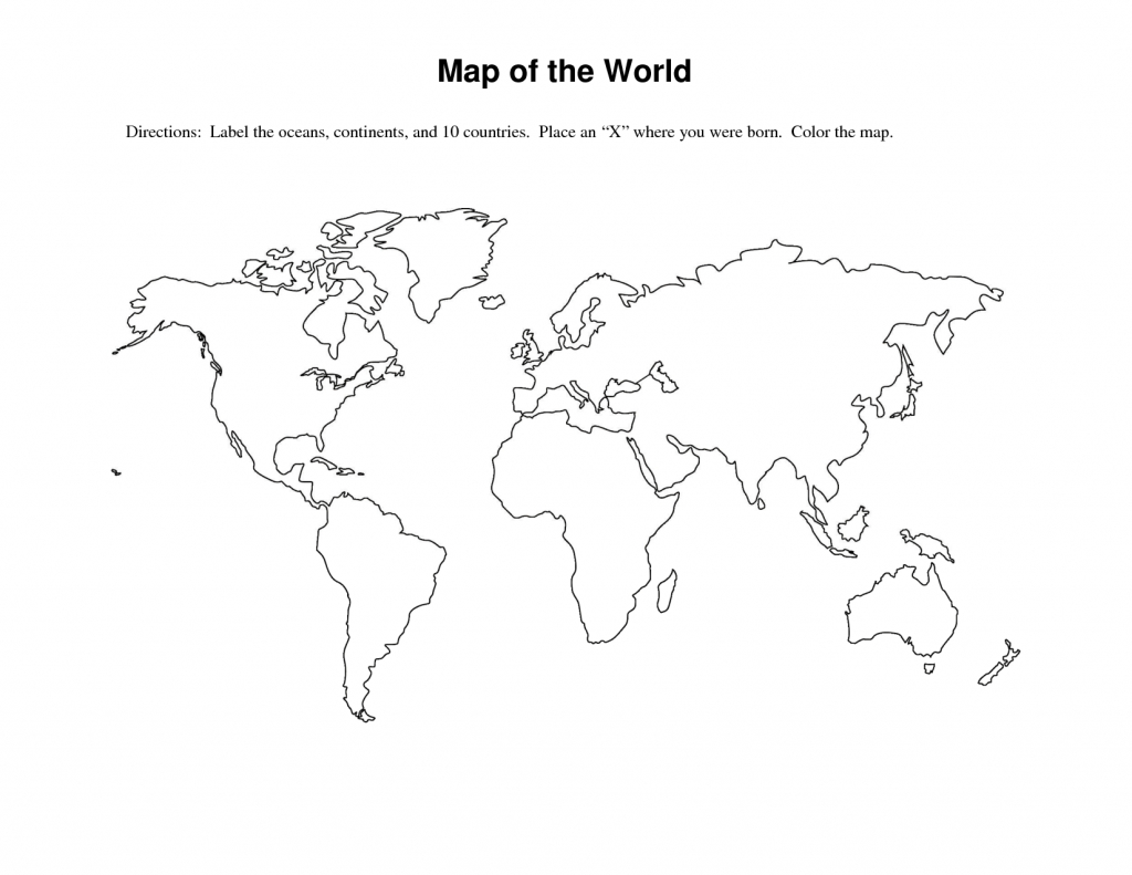 Pinterest - Free Printable World Map Worksheets