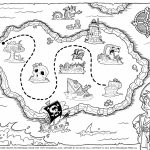 Pirate Treasure Map Coloring Pages | Pre-K Stuff | Pirate Maps - Printable Pirate Maps To Print