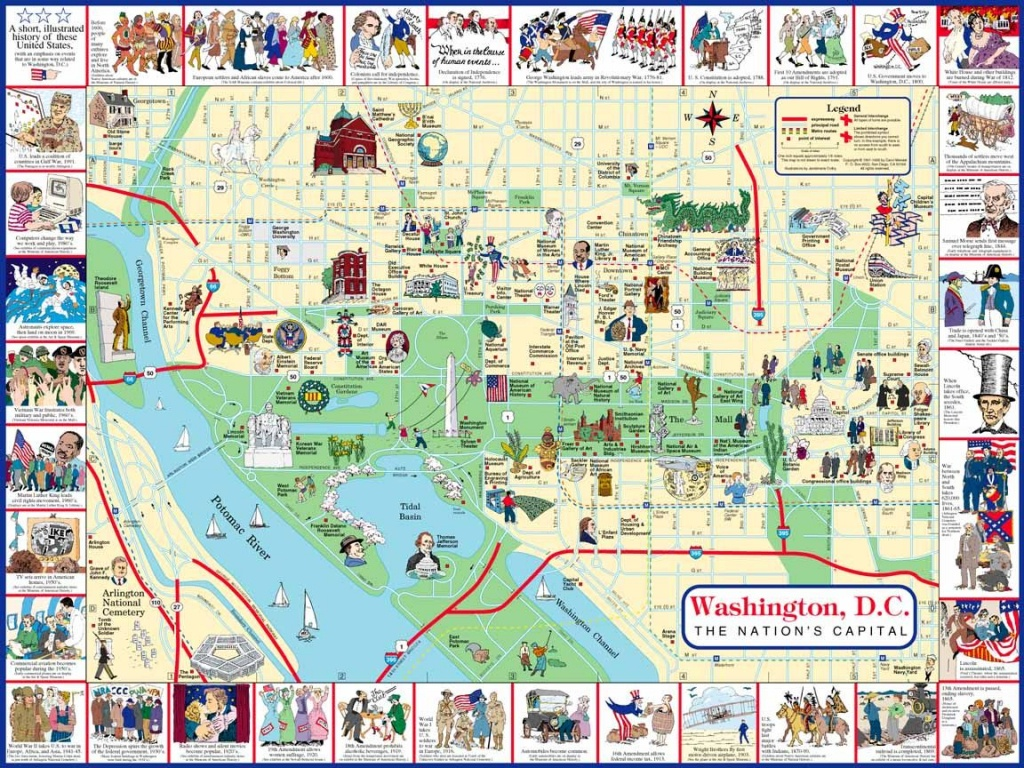 Plan It: Four Days With The Kids In Washington, Dc | Road Trip - Printable Map Of Washington Dc Attractions