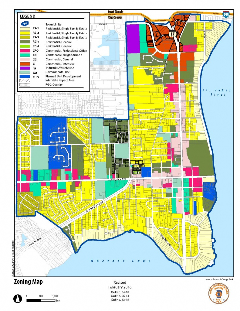 Planning And Zoning - Town Of Orange Park - Florida Land Use Map