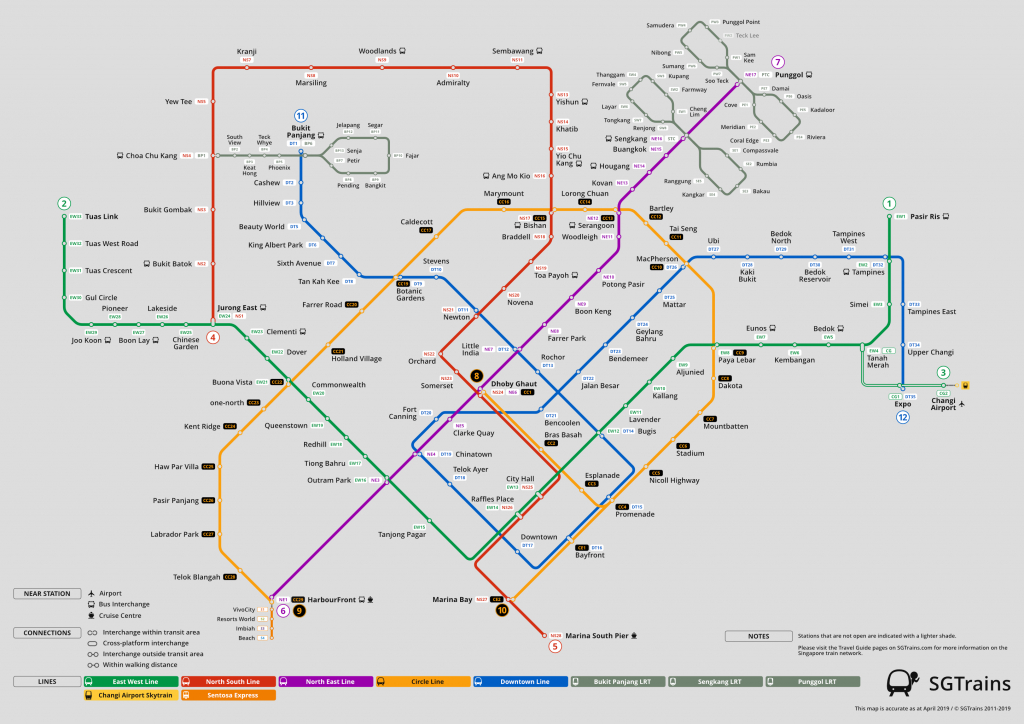Planning Your Journey | Sgtrains - Singapore Mrt Map Printable