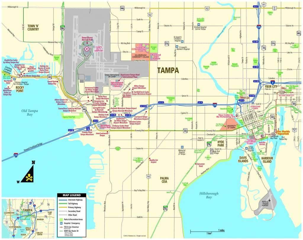 Pocket Map - Map Of Hotels In Tampa Florida