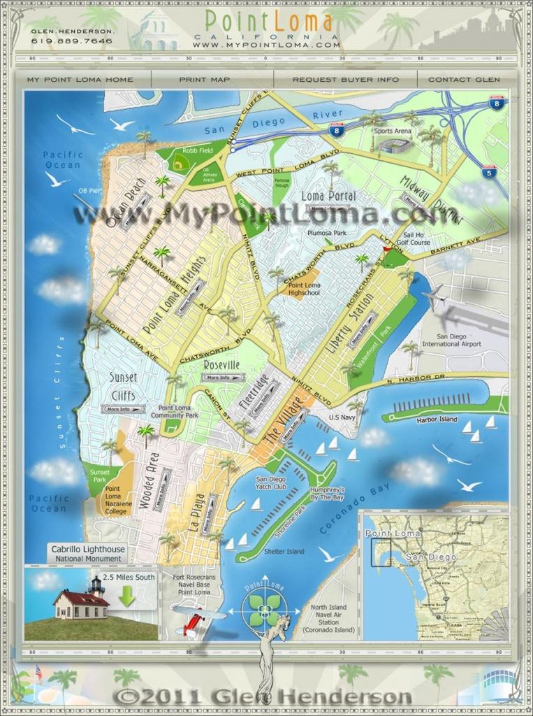 Point Loma Neighborhoods Map | San Diego Maps | San Diego Map, Real - Map Of Ocean Beach California