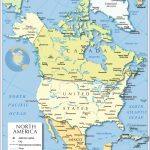 Political Map Of North America   Nations Online Project   Printable Physical Map Of North America