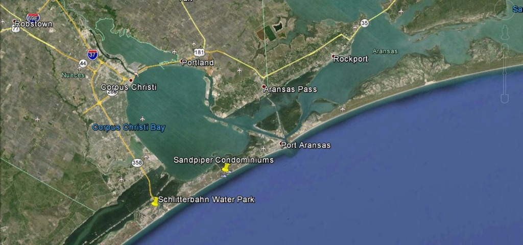 Port Aransas Map   Sandpiper Condos Location & Directions - Google Maps Port Aransas Texas