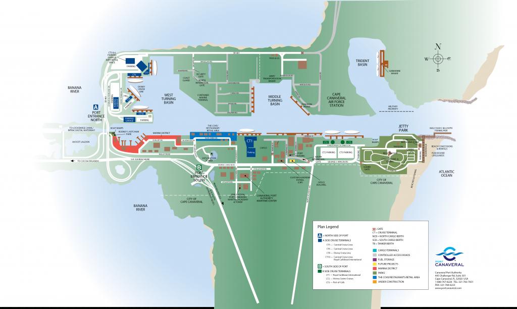 Port Canaveral - Port Canaveral Florida Map