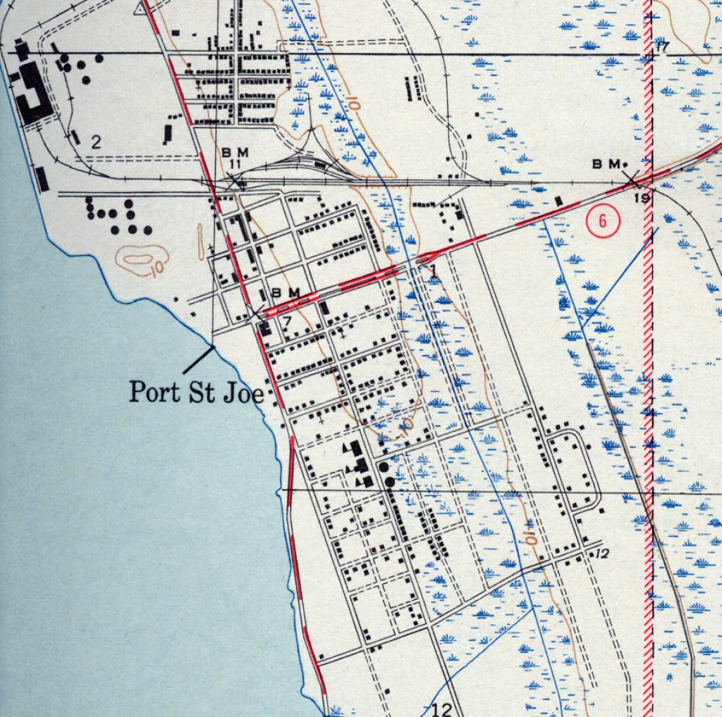 Port St. Joe, 1943 - Port St Joe Florida Map