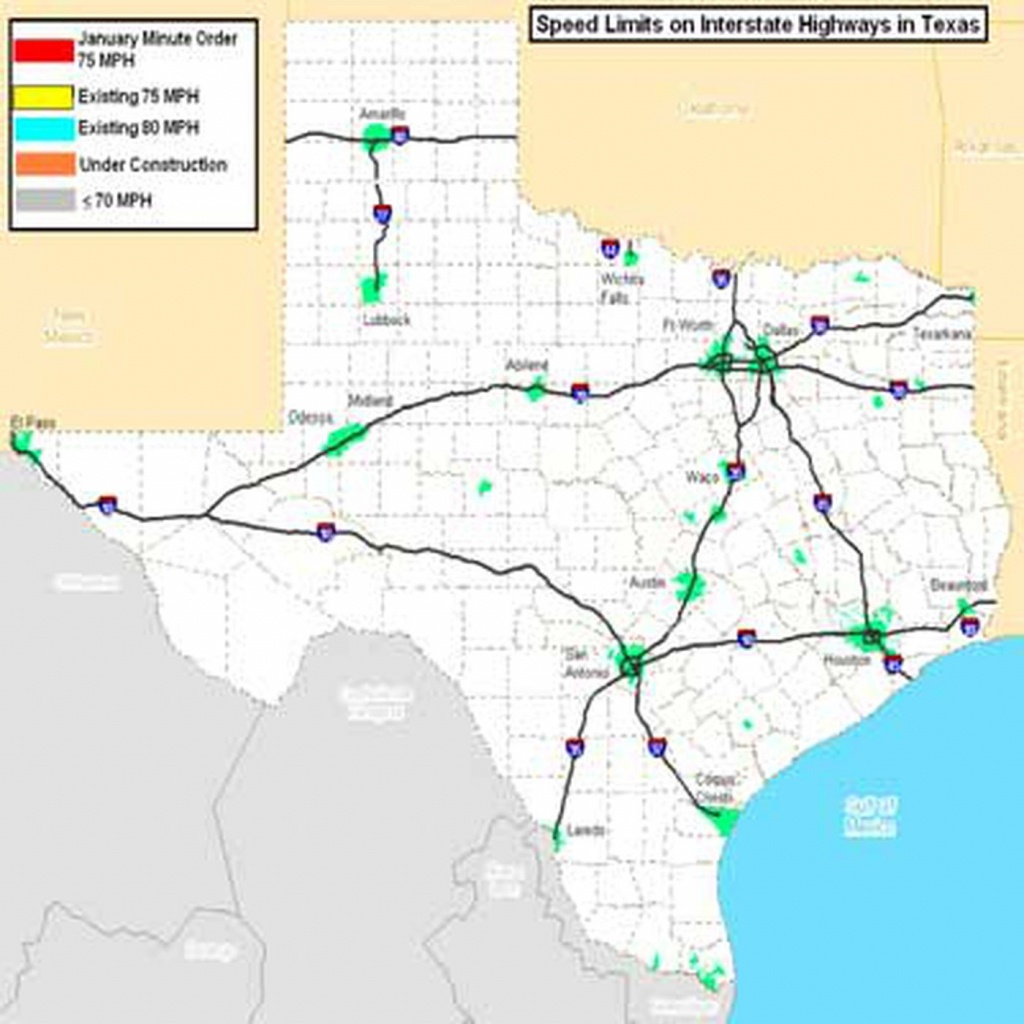 Portions Of Texas Interstate Highways To See Speed Limit Increase To - Texas Mile Marker Map I 20