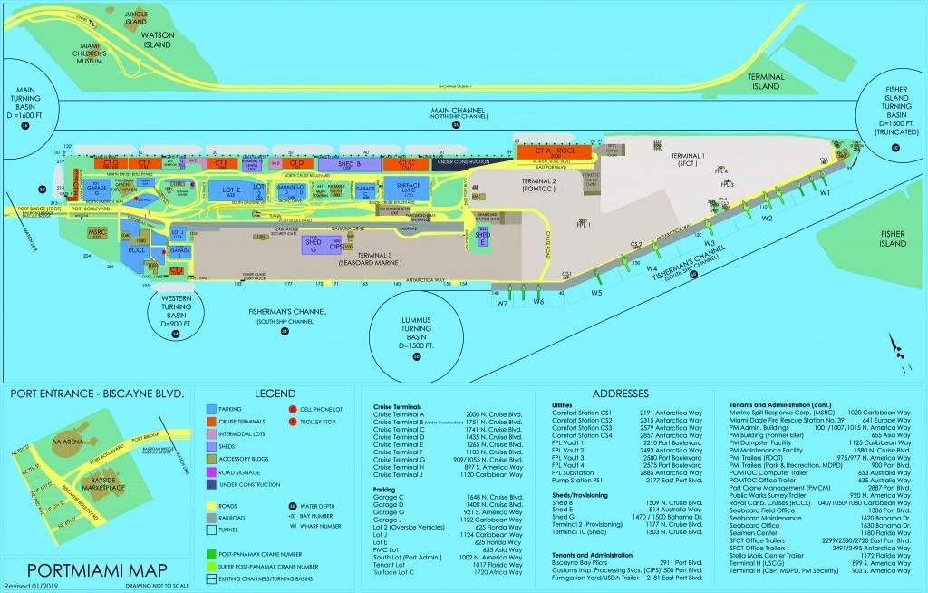 Portmiami - Cruise Terminals - Miami-Dade County - Map Of Miami Florida Cruise Ship Terminal