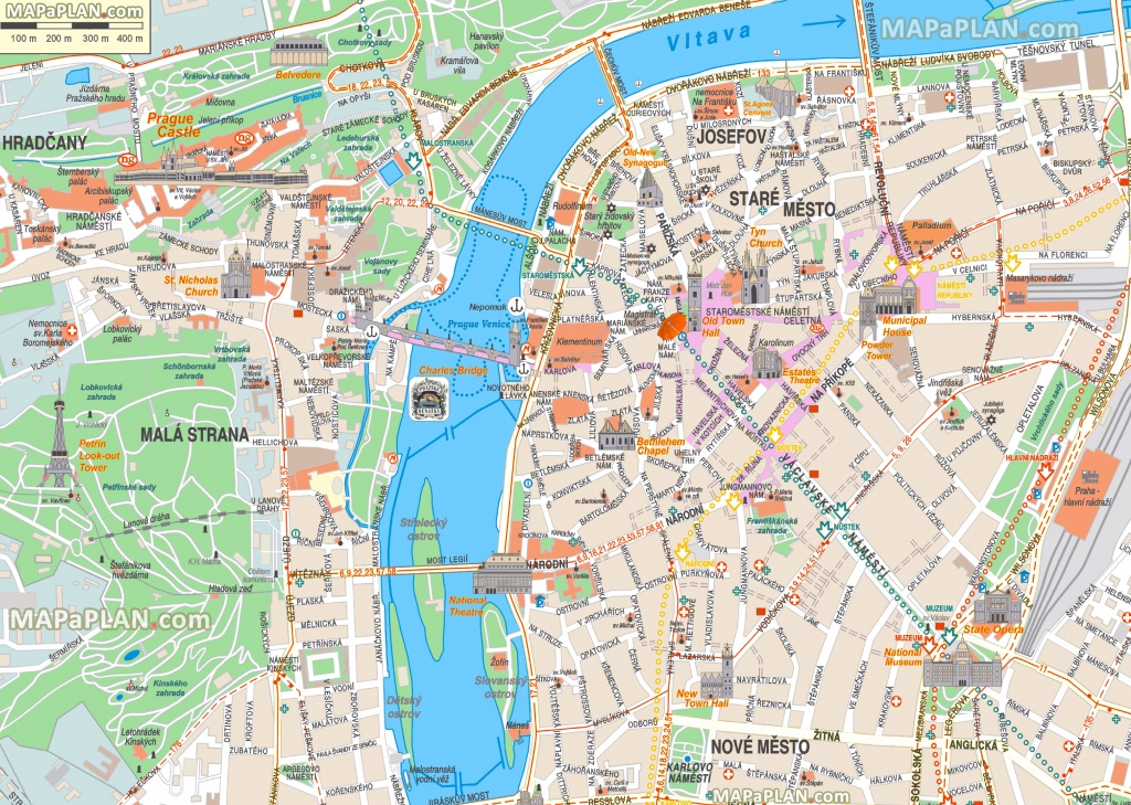 Prague Maps - Top Tourist Attractions - Free, Printable City Street Map - Printable Map Of Prague City Centre