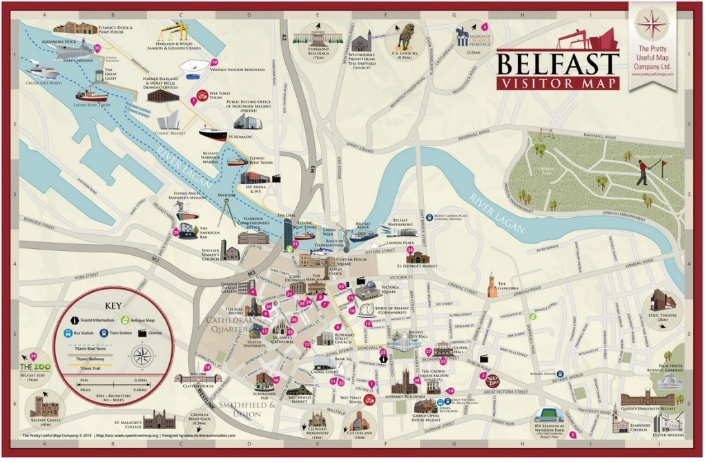 Pretty Useful Map Co. | Beautifully Illustrated Map Guides – Belfast Map - Belfast City Map Printable