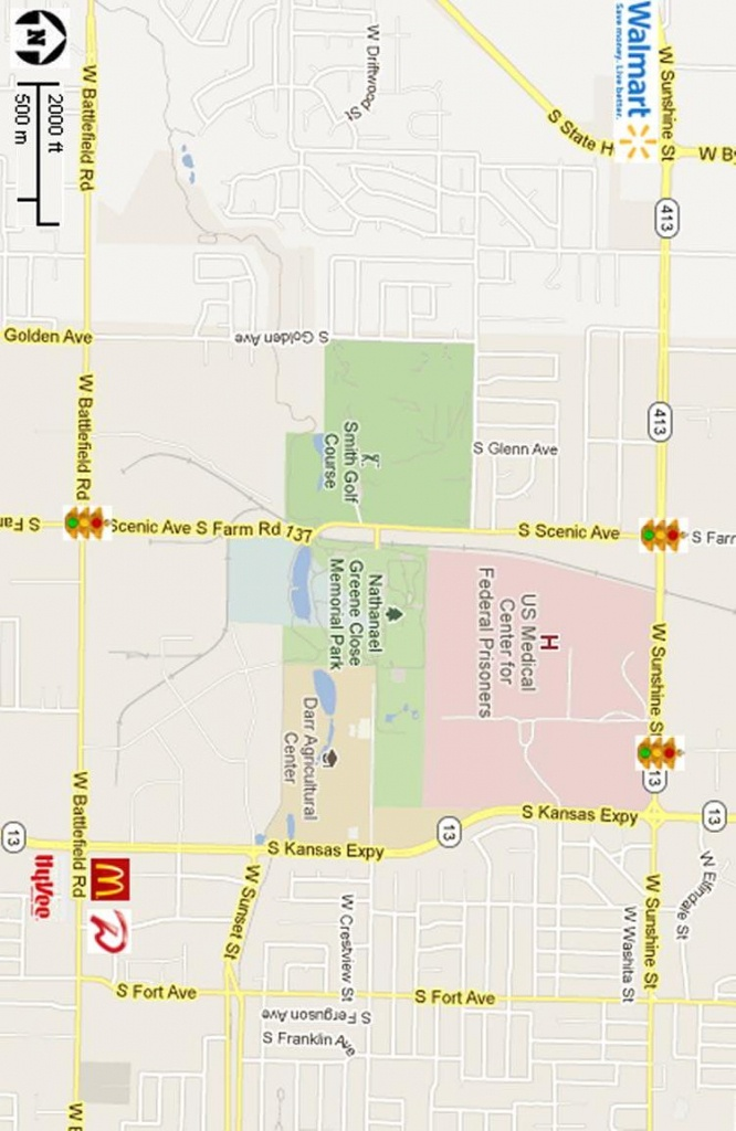 Print Map West Side Springfield, Mo | 1-417-327-3911 | Aj Ellis - Printable Map Of Springfield Mo
