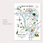 Print Your Own Colour Wedding Or Party Illustrated Mapcute Maps   Maps For Wedding Invitations Free Printable