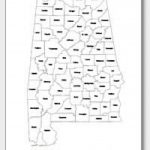 Printable Alabama Maps | State Outline, County, Cities   Printable Map Of Alabama