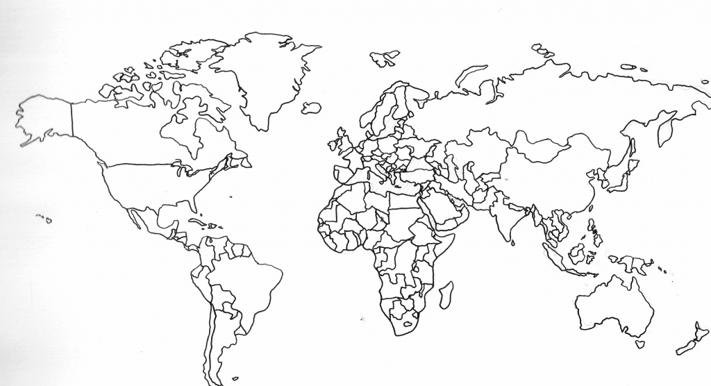 Printable Black And White World Map With Countries 13 1 - World Wide - World Map Black And White Printable