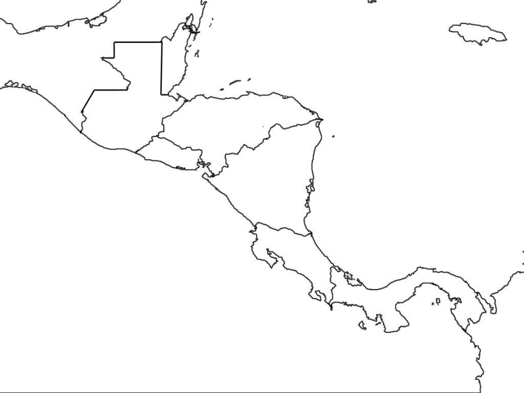 Printable Blank Map Of Central America Diagram New On Outline Free - Printable Blank Caribbean Map