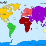 Printable Blank Map Of The Oceans World Not Labeled For Continents - Continents Of The World Map Printable