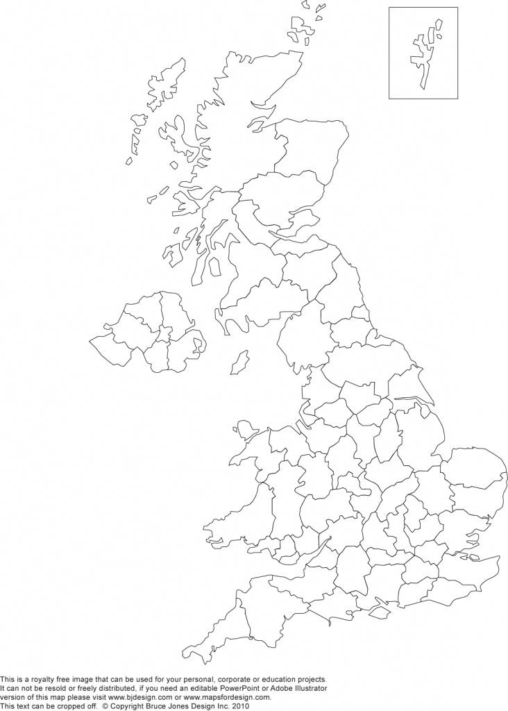 Printable, Blank Uk, United Kingdom Outline Maps • Royalty Free - Printable Map Of Uk Counties