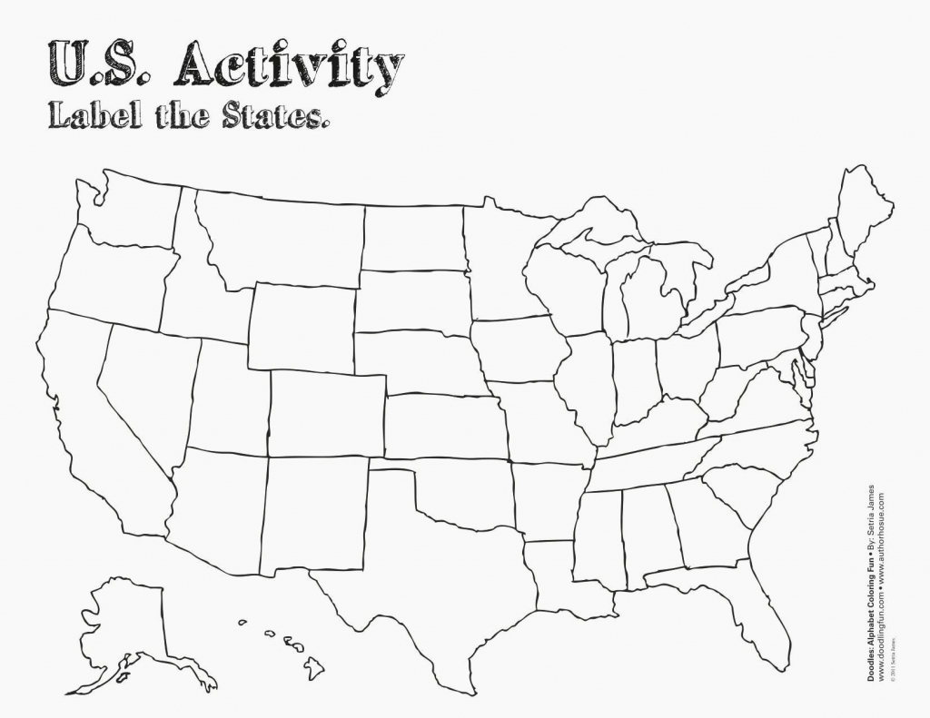 Printable Blank Us State Map Awesome Blank Us Map For Test Fresh Us - Us Map Test Printable