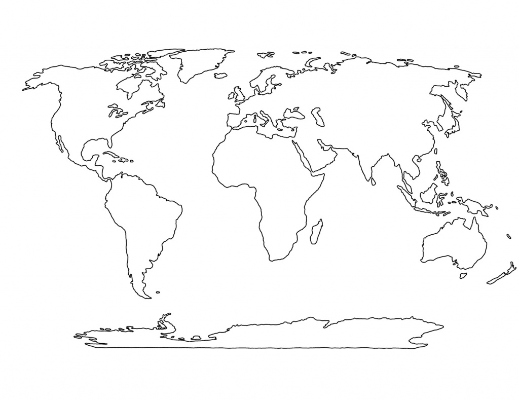 Printable Blank World Map Template For Students And Kids - World Map Outline Printable For Kids