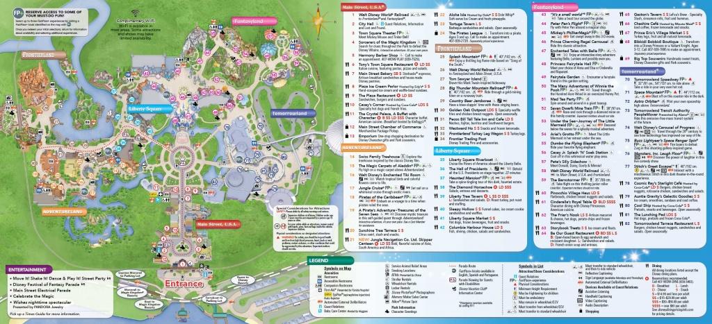Printable Disney World Maps - Design Templates - Printable Disney Maps