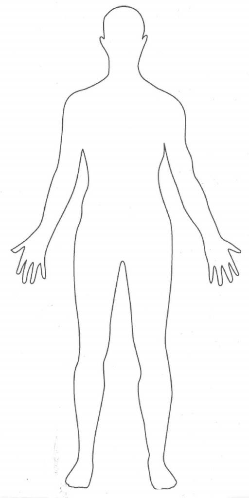 Printable Human Body Outline | Party - Fashion | Body Template, Body - Printable Body Maps