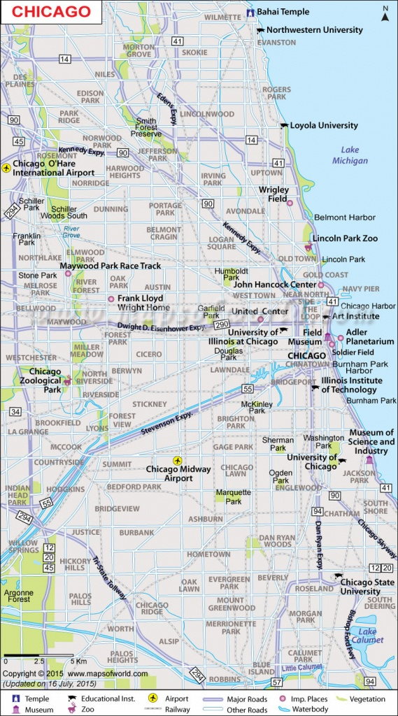 Printable Map Of Chicago